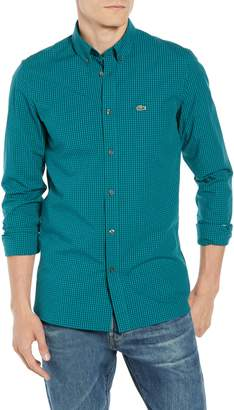 Lacoste Regular Fit Gingham Stretch Poplin Sport Shirt