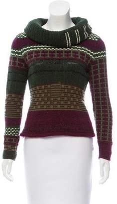 Oscar de la Renta Intarsia Knit Cashmere Sweater