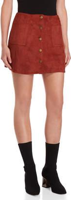 J.o.a. Faux Suede Mini Skirt