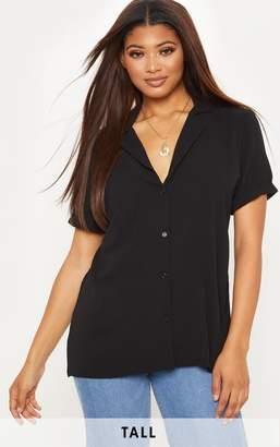 PrettyLittleThing Tall Black Short Sleeve Shirt