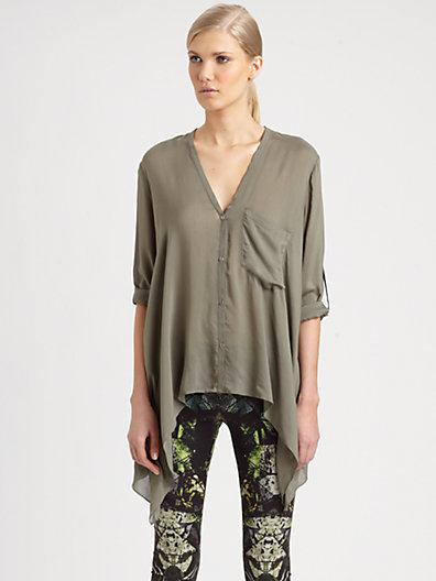 Helmut Lang Lush Voile Square Shirt