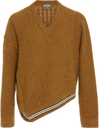 Lanvin Asymmetric Wool And Alpaca-Blend Sweater