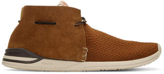 Visvim Brown Huron Mesh Moc-Folk Sneakers