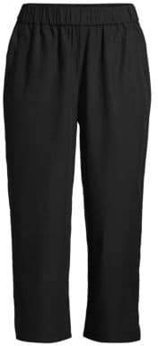 Eileen Fisher Sandwashed Tencel Cropped Pants