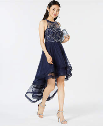 Speechless Juniors' Tiered High-Low Dress, Created for Macy's