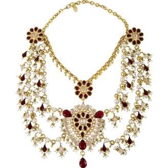 Alexander McQueen Gold Crystal Necklace