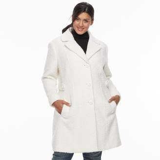Gallery Plus Size Wool Blend Coat