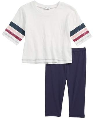 Splendid Roller Stripe Tee & Leggings Set