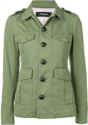 DSQUARED2 Military buttoned jacket