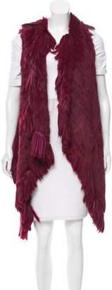 Jocelyn Knitted Fringe Fur Vest