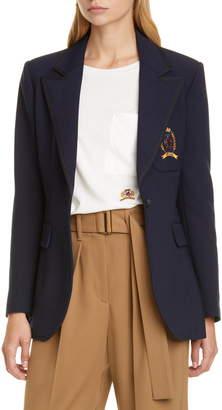 Tommy Hilfiger Crest Embroidered School Blazer