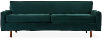 One Kings Lane Davia Sofa - Pine Green Velvet