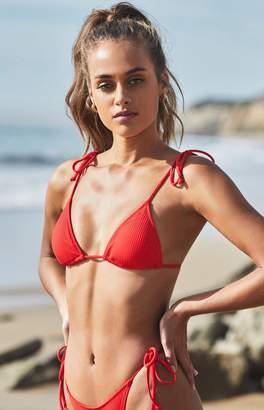 00a74d72a2b LA Hearts Red Playa Tied Up Bralette Bikini Top