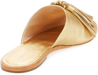 Loeffler Randall Kiki Flat Tasseled Leather Slide Sandal