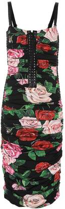 Dolce & Gabbana Floral stretch-silk dress