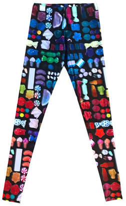 Terez Candy Grid-Print Leggings, Size 7-16