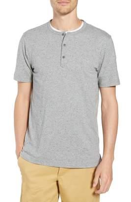 1901 Cotton Blend Short Sleeve Henley