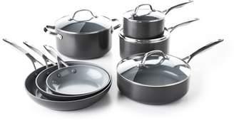 Green Pan Valencia Pro 11-Piece Anodized Aluminum Ceramic Nonstick Cookware Set