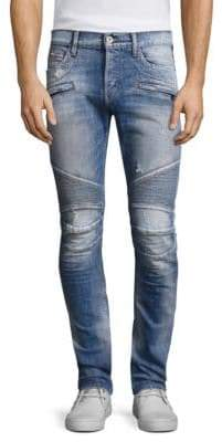 Hudson Jeans Blinder Biker Distressed Skinny Fit Jeans