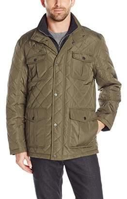 London Fog Men's Dewspo Quilt Field Coat with Bib