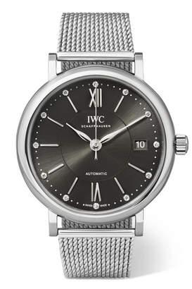 IWC SCHAFFHAUSEN Portofino Automatic 37 Stainless Steel And Diamond Watch - Silver
