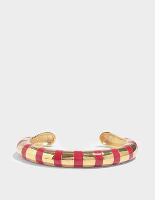 Aurelie Bidermann Maria Bracelet With Red Enamel in Red Enamel and 18K Gold-Plated Brass
