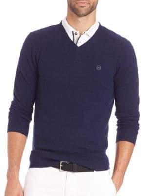 AG Jeans Arbor Merino Wool V-Neck Sweater