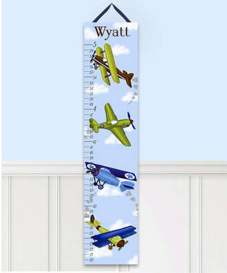 Toad and Lily Airplane Personalized Canvas Growth Chart