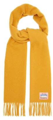 Acne Studios Fringed Wool Scarf - Womens - Camel