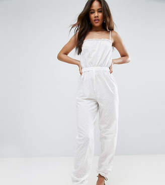 Asos Tall DESIGN TALL Dobby Beach Jumpsuit