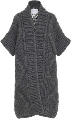 I Love Mr. Mittens Diamond Wool Knit Cardigan