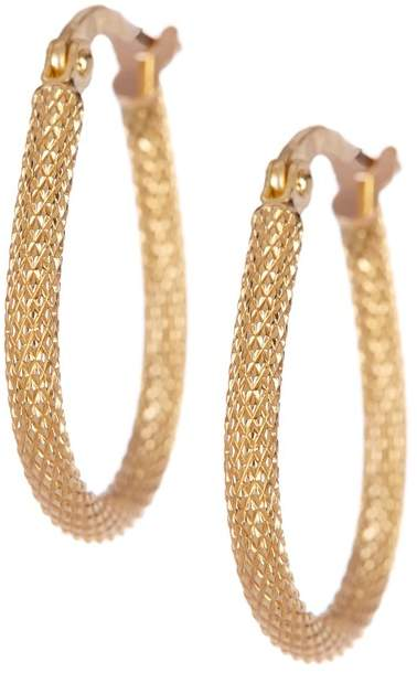 Candela Candela 14K Yellow Gold Mesh Pear Shaped Hoop Earrings