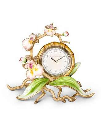 Jay Strongwater Orchid Clock