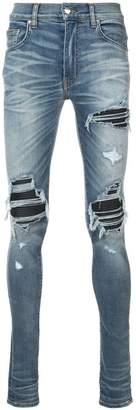 Amiri MX1 leather insert jeans
