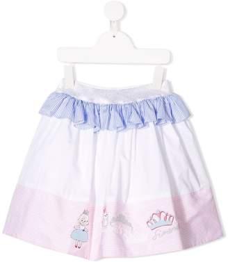 Simonetta panelled ruffled skirt
