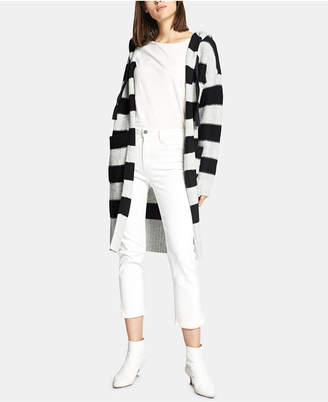 Sanctuary Hooded Rugby-Stripe Long Cardigan