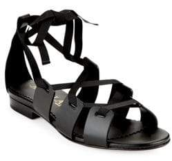 Aperlaï Crisscross Leather Sandals