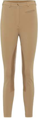 Burberry Leather-trimmed leggings