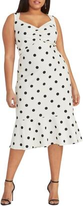 Rachel Roy Polka Dot Crepe Dress