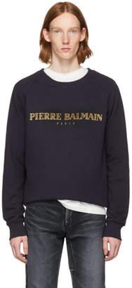 Pierre Balmain Navy Logo Sweatshirt