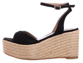 Tabitha Simmons Suede Wedge Sandals