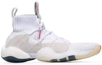 adidas white and red crazy BYW X sneakers