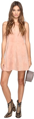 Free People - Retro Love Suede Dress Women's Dress $168 thestylecure.com