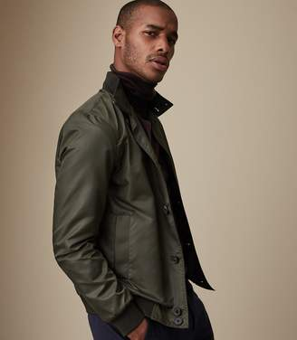 Reiss HECK FUNNEL NECK JACKET Olive Grey