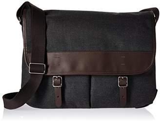 Fossil Men's Buckner Leather Trim Messenger Bag