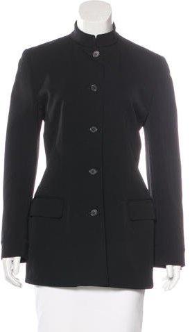 Calvin Klein Collection Long Sleeve Button-Up Jacket