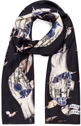 Coleman Louise Dead Hands Long Silk Scarf