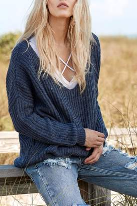 Elan International Deep Neck Sweater