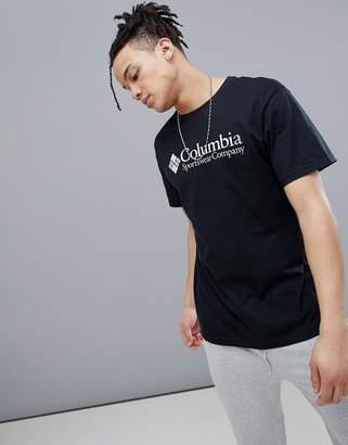 Columbia Logo T-Shirt In Black