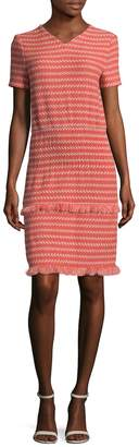 Maje Women's Striped Above The Knee Dress